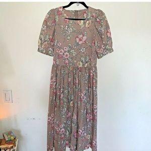 Laura Ashley Tea Length Floral Dress